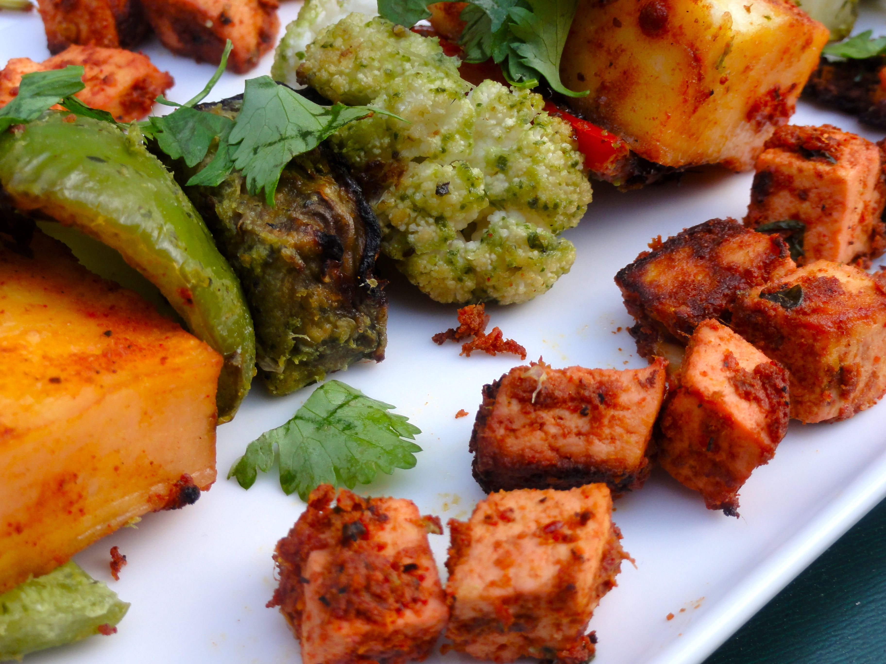 Indian bbq hariyali vegetable kebobs cilantrogingergarlic if using a bbq grill forumfinder Image collections